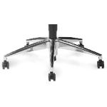 MOJA - Piétement aluminium poli pour fauteuil de bureau