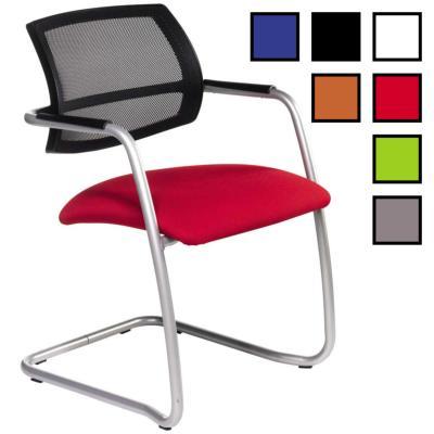 VIMY - Chaise de réunion confortable luge - Noire