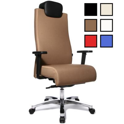 VASTO - Fauteuil de bureau personnes fortes tissu ou cuir