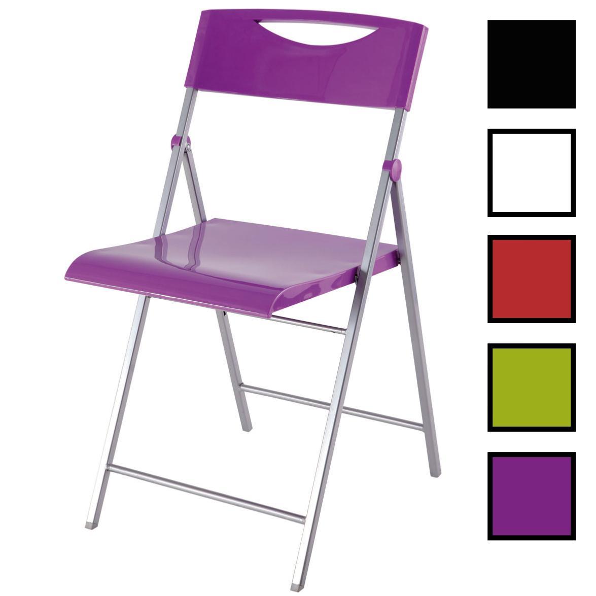 DARWIN - Chaise pliante en acier et plastique