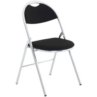 DIEPPE - Chaise pliante chromée en tissu