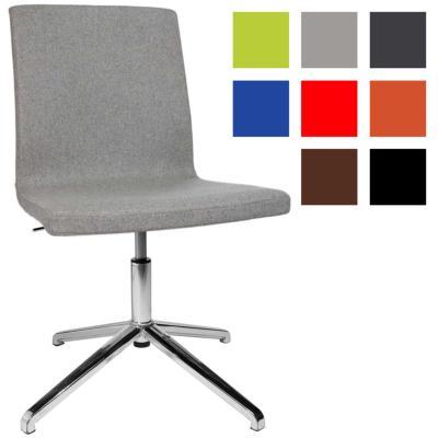 CAPRI - Chaise de visiteur design réglable en hauteur - Grise Claire Sans Accoudoirs
