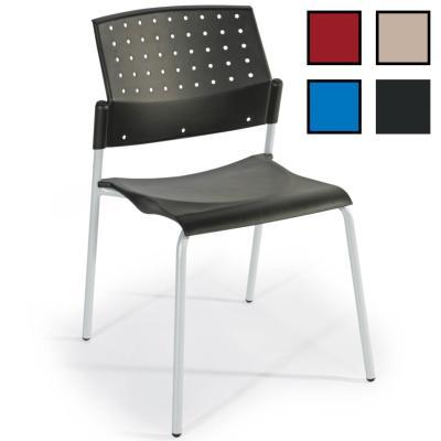 BELFORT - Chaise de réunion empilable en plastique