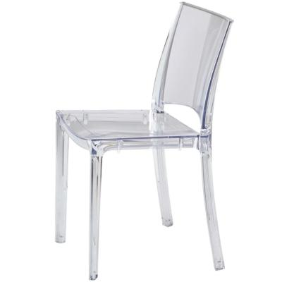 CLIO - Chaise empilable en plastique transparent