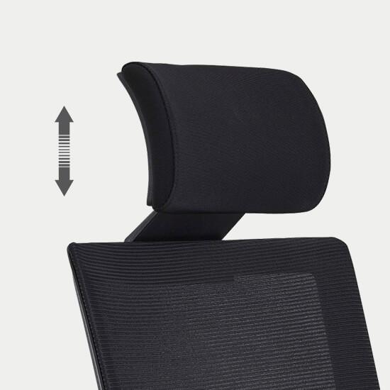 Zoom la têtière réglable en hauteur du fauteuil de bureau Zalana