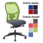 TILLAC - Chaise de bureau dactylo en tissu non feu