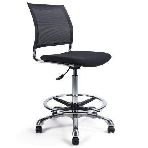SOACHA H - Chaise haute tissu et résille pour caisse