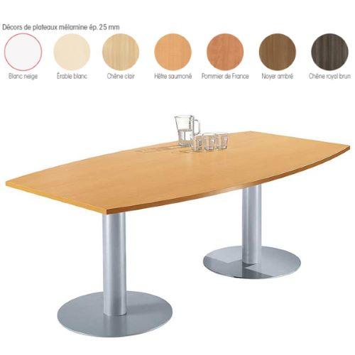 KARINA 2 pieds centraux - Table réunion