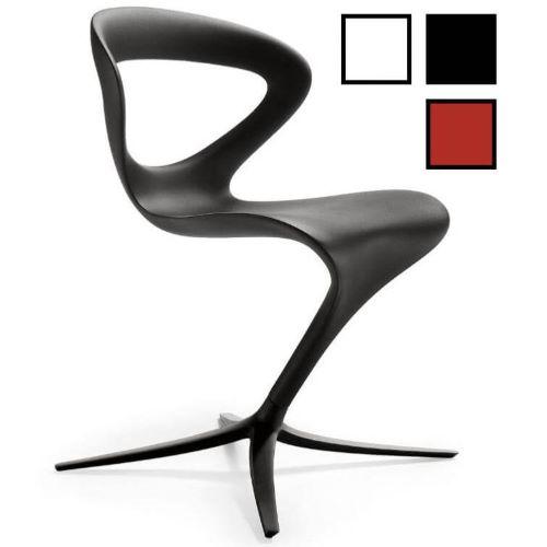 WONJU - Chaise design en plastique - Noire