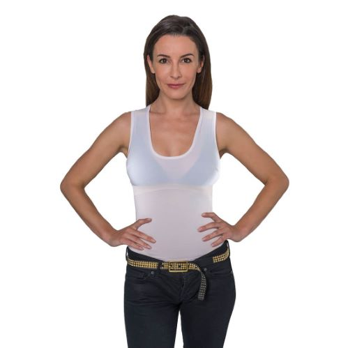PERCKO - T-Shirt femme ergonomique pour soutenir le dos blanc