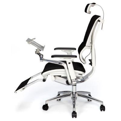 PEREIRA - Fauteuil de bureau ergonomique tablette + repose-pieds