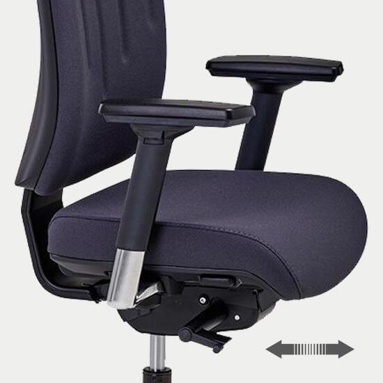 Zoom sur la translation d'assise du siège de bureau ergonomique Tenay T