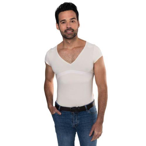 PERCKO - T-Shirt homme ergonomique pour soutenir le dos blanc