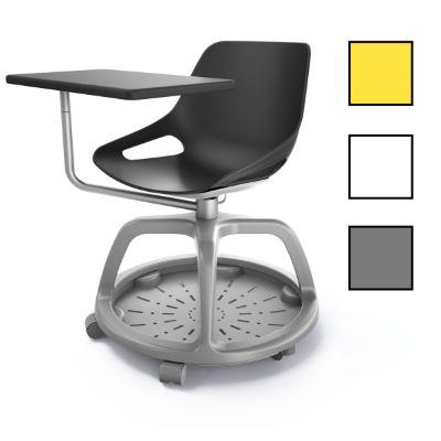 KUOPIO 360 - Chaise campus avec tablette 360° - Blanche