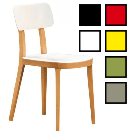 GUMI - Chaise réunion design en bois et plastique