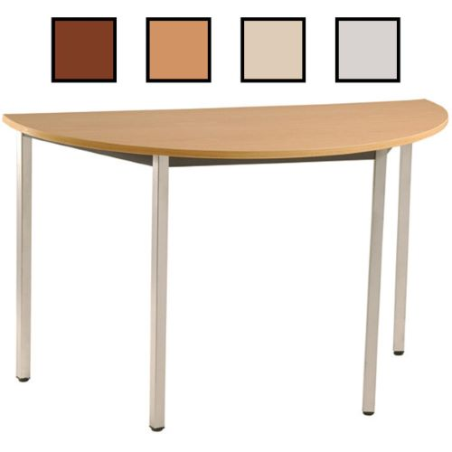 PORVOO - Table fixe en forme de demi-lune