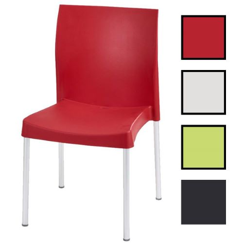 DIX - Chaise multi-usages empilable - Rouge