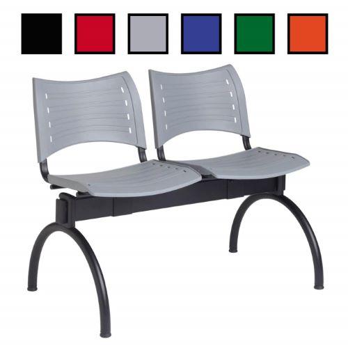 TARENCE - Chaise en plastique sur poutre 1 à 4 places