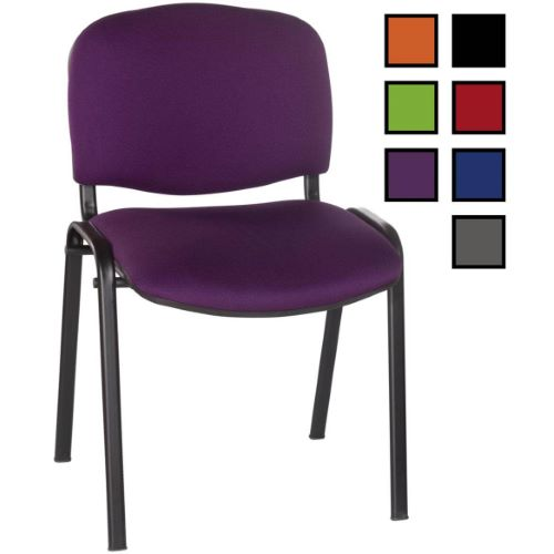CAEN - Chaise réunion empilable en tissu non feu