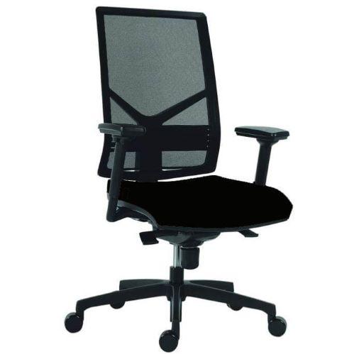 ODRY - Siège de bureau ergonomique tissu/filet