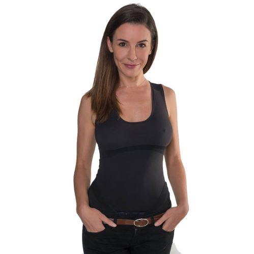 PERCKO - T-Shirt femme ergonomique pour soutenir le dos noir