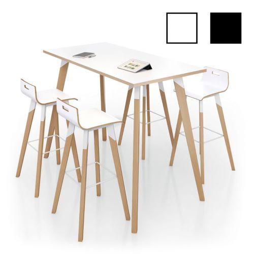 IXELLE - Table haute en bois 110 cm