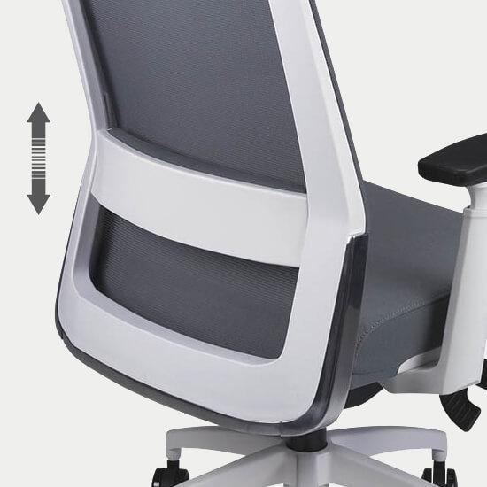 Zoom sur le support lombaire réglable du fauteuil de bureau ergonomique Gap