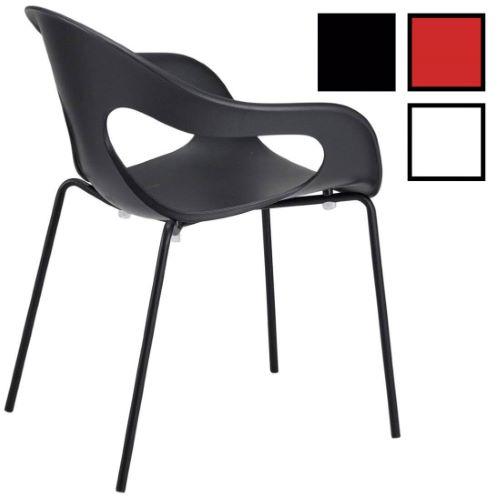 SEMPY - Chaise design empilable en polypropylène - Noire