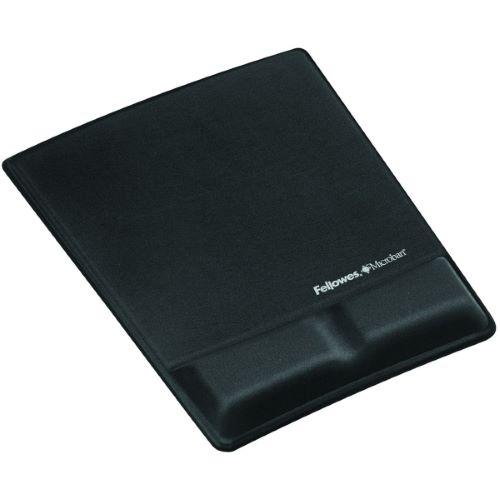 MICROBAN - Tapis de souris avec repose-poignets noir