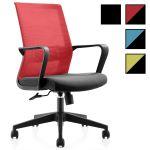 SMART W - Chaise de bureau à roulettes en tissu et filet