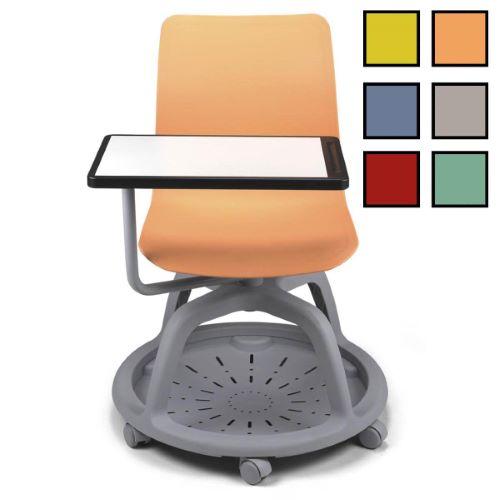 TULUA - Chaise de formation avec tablette - Orange
