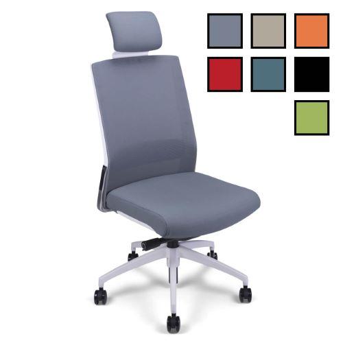 GAP - Fauteuil de bureau ergonomique design tissu/filet