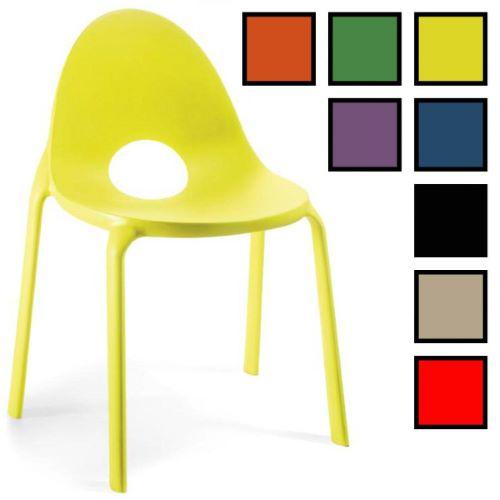 HANAM - Chaise visiteur design polypropylène - Jaune