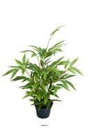 Bambou artificiel en pot H 45 cm feuillage tergal
