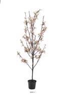 Cerisier artificiel Prunus du japon tronc PE H 90 cm D 40 cm Fleurs Roses