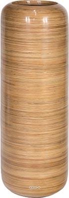 Bac Fibre de verre Rattan Int. Colonne ronde D 40 x H 121 cm Sable