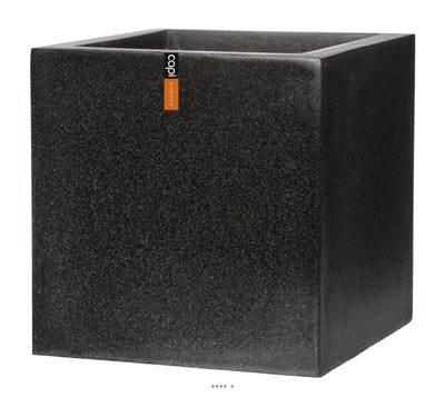 Bac en pures Fibres Baya Ext. Cube L 20 x 20 x H20 cm Noir