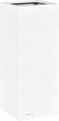 Bac fibres de verre et plastique renforcé 30 x 30 cm H 70 cm Ext. carré haut blanc mat