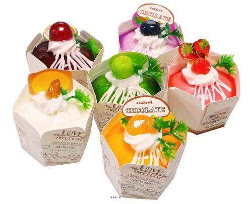 Gateaux Cup Cakes artificiels X6 Mousse PU aliment factice Fausse nourriture