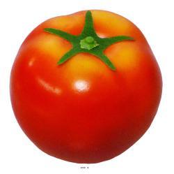 Tomate Artificielle D 7 cm avec sa feuille