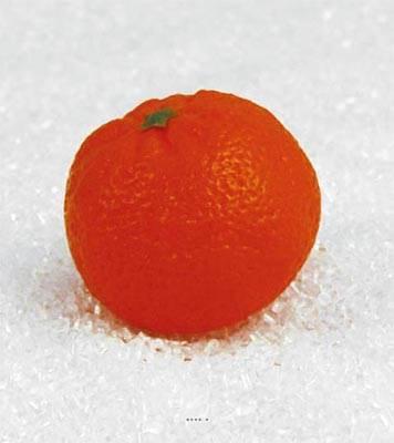 Mandarine artificielle en lot de 3 en Plastique soufflé D 65x50 mm