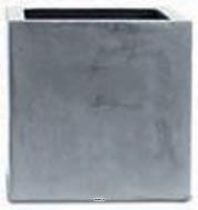 Bac Fibre de verre et composite Farn Exterieur Cube L 27 x 27 xH 27cm Gris Fonce