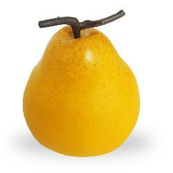 Poire Comice fruit artificiel H 10 cm et D 8 cm Superbe