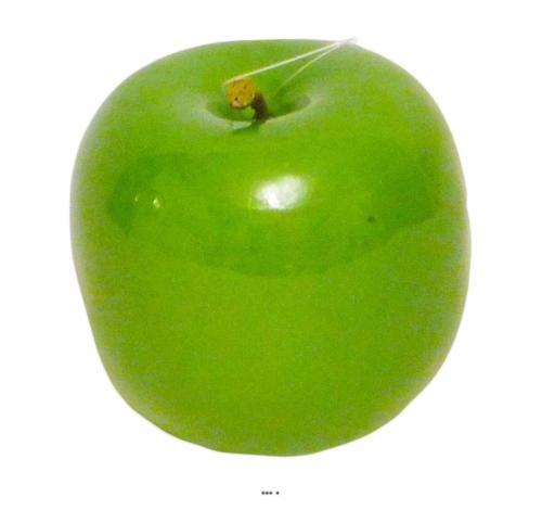 Pomme artificielle verte brillante D6 5cm Superbe en Decoration
