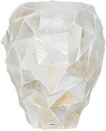 Bac Fibre de verre Sea Int. Vase D 17 x H 24 cm Creme