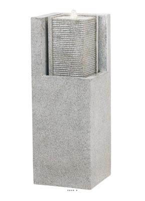 Bac Fibre de verre et composite Water A Ext. Fontaine L 32 x 32 xH 87cm Gris ciment