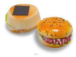 Hamburgers X2  D 10 cm et H 6 cm Mousse PU aliment factice décoration
