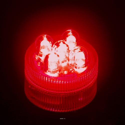 Led 5 points couleur Rouge submersible reutilisable livre avec ses 2 piles