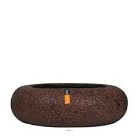 Bac Wood en fibres de verre Int. bol rond bas 35x10 cm marron