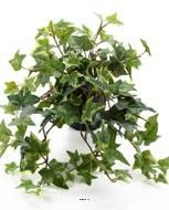 Lierre artificiel panaché retombant en pot, petites feuilles, H 30 cm
